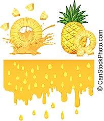 běloba grafické pozadí, ananas