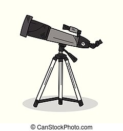běloba grafické pozadí, dalekohled, ilustrace