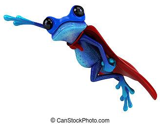 błękitna żaba