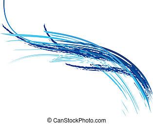 błękitna falistość
