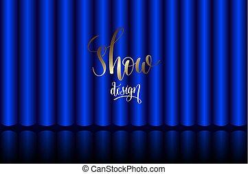 błękitna firanka, teatr, rusztowanie