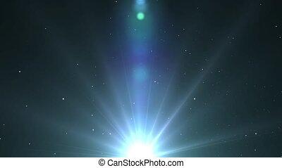błękitna gwiazda, lekki, długi, r, lustrzany