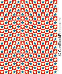 błękitna gwiazda, wektor, eps8, biały czerwony