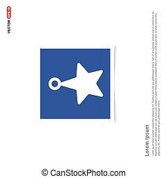 błękitna gwiazda, zdejmować budowę, -, ikona