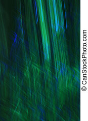 błękitna & zieleń, abstrakcyjny