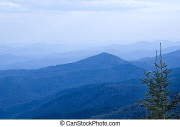 błękitne góry, grzbiet