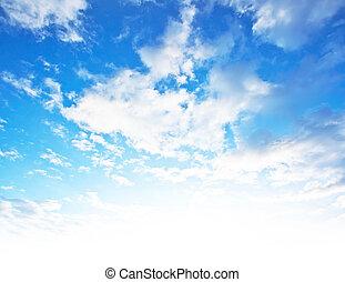 błękitne niebo, tło