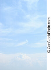 błękitne niebo, z, lekki, chmury