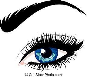 błękitne oko, samica
