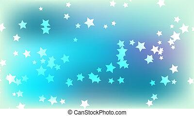 błękitne tło, przestrzeń, abstrakcyjny, wielobarwny, stars., jasny, gwiazdy, barwny