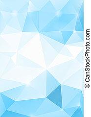błękitny, abstrakcyjny, eps10., lód, polygonal, tło., wektor