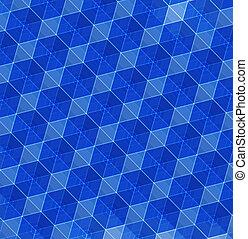 błękitny, abstrakcyjny, geometryczny, tło