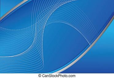 błękitny, abstrakcyjny, ilustracja, machać, projektować, tło