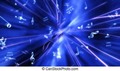 błękitny, abstrakcyjny, muzyka, pętla
