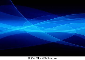 błękitny, abstrakcyjny, odbicia, struktura
