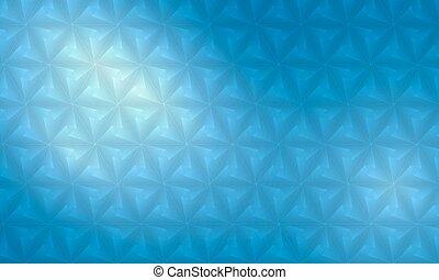 błękitny, abstrakcyjny, polygonal, wektor, tło, regularny