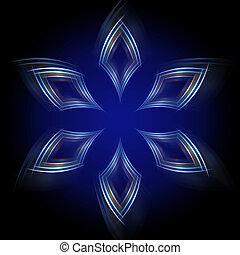 błękitny, abstrakcyjny, rhombuses, wielobarwny, tło, lustrzany