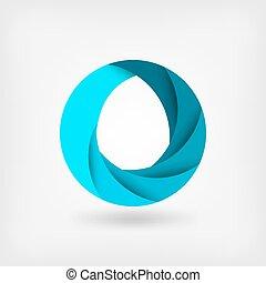 błękitny, abstrakcyjny, szablon, water., logo, symbol