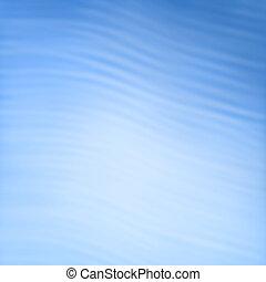 błękitny, abstrakcyjny, -, tło, fale