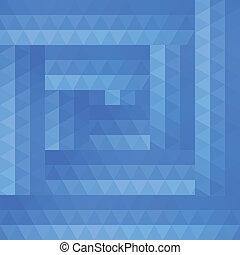 błękitny, abstrakcyjny, tło, triangle