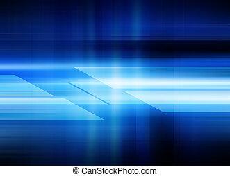 błękitny, abstrakcyjny, technologia, tło