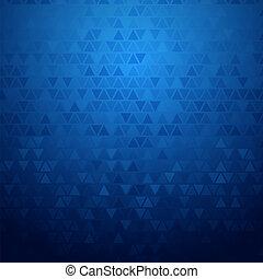 błękitny, abstrakcyjny, triangle, tło