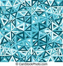 błękitny, abstrakcyjny, triangle