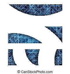 błękitny, abstrakcyjny, wektor, futurystyczny, tło