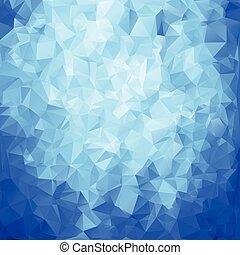 błękitny, abstrakcyjny, wielobok, struktura