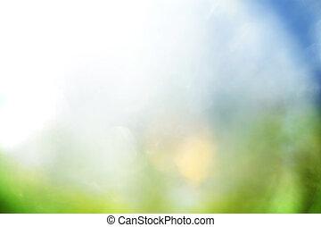 błękitny, abstrakcyjny, zielone tło