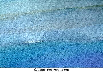 błękitny, akwarela, tło