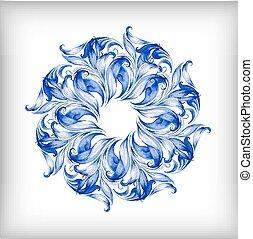 błękitny, akwarela, wektor, background?
