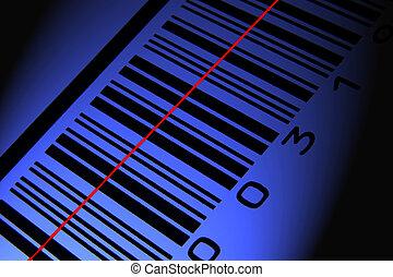 błękitny, barcode