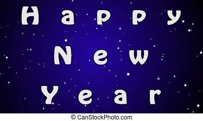 błękitny, beletrystyka, rok, animacyjne tło, nowy, biały, szczęśliwy