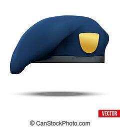 błękitny, beret, wojska, marynarka wojenna, wojskowy, szczególny