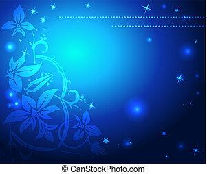 błękitny, boże narodzenie, tło, abstrakcyjny