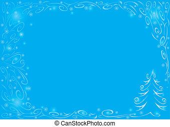 błękitny, boże narodzenie, tło