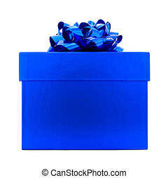 błękitny boks, odizolowany, dar