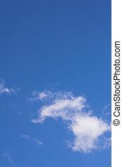 błękitny, chmury, #1, niebo