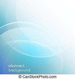 błękitny, circles., abstrakcyjny, wektor, tło