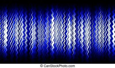 błękitny, cząstka, &, abstrakcyjny, machać, woda