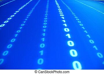 błękitny, dane, przestrzeń
