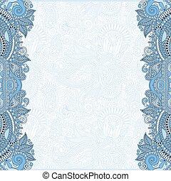 błękitny, dekoracyjny, niezwykły, barwa, szablon, kwiatowy