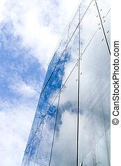 błękitny, drapacz chmur