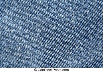 błękitny, drelich, struktura