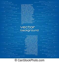 błękitny, elementy, abstrakcyjny, tło, techniczny, microchip