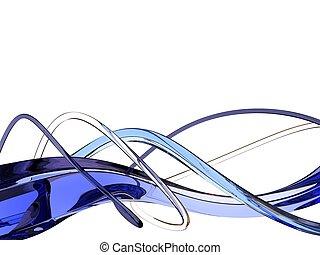 błękitny falowy
