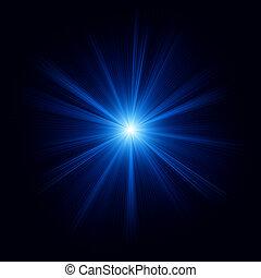 błękitny, farbować zamiar, z, niejaki, burst., eps, 8