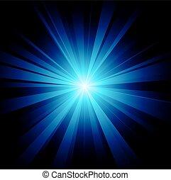 błękitny, farbować zamiar, z, niejaki, pękać, wektor, rząd, included