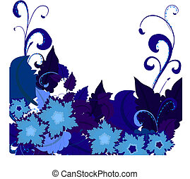 błękitny, flowers2